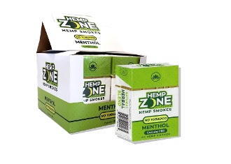 Hemp Zone Hemp Smokes Menthol 10/20
