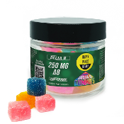 Happy Place Hemp Delta 8 CBD Gummies Jar 250mg