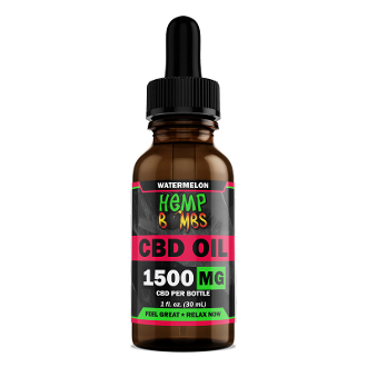 Hemp Bombs Tincture Oil Watermelon 1500mg