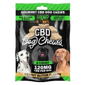 Hemp Bombs CBD Dog Chew Peanut Butter Display 120mg 12/8ct