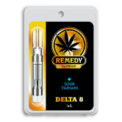 Remedy Delta 8 CBD Sour Tsunami Vape Cartridge 1ml