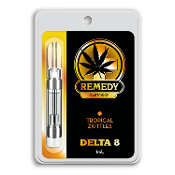 Remedy Delta 8 CBD Tropical Zkittles Vape Cartridge 1ml