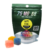 Happy Place Hemp Delta 8 CBD Gummies Bag 75mg 3ct