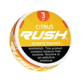 Rush White Pouches Citrus 5x3mg Cans