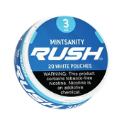 Rush White Pouches Mintsanity 5x3mg Cans