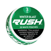 Rush White Pouches Winter Blast 5x3mg Cans