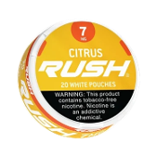 Rush White Pouches Citrus 5x7mg Cans