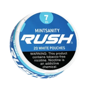 Rush White Pouches Mintsanity 5x7mg Cans